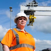 First Female Crane Operator